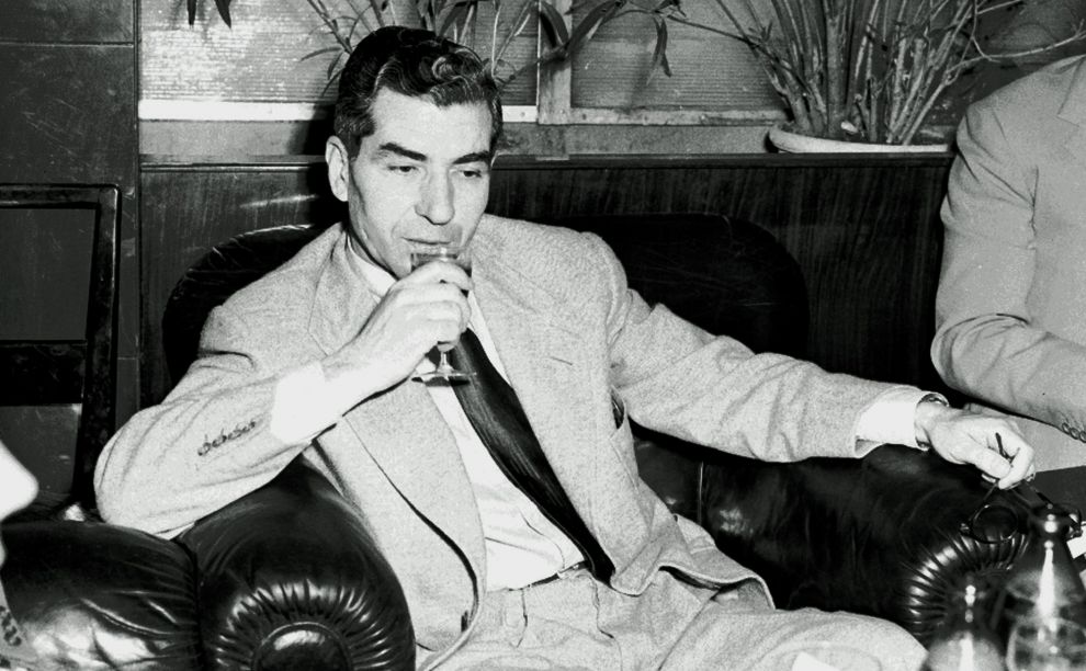 Luciano is pictured shortly after achieving his freedom in 1946.
