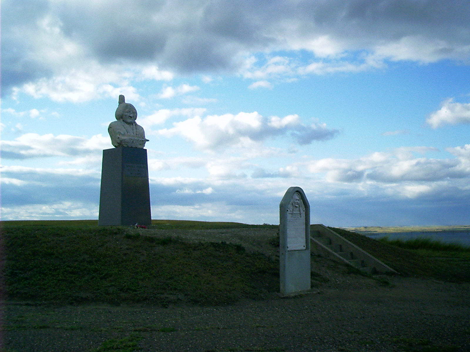 Sitting Bull's modern day burial site in Mobridge, South Dakota.