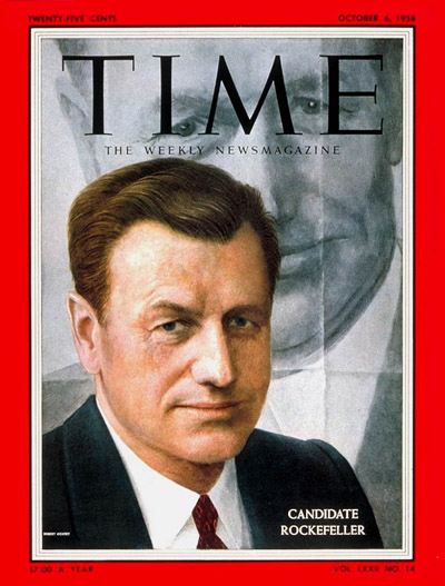 Nelson Rockefeller ledthe moderate wing of the Republican party in the mid 20th Century.