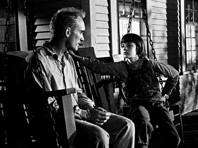 Duvall's character Boo Radley talks with Scout Finch after saving the life of both her and her brother.