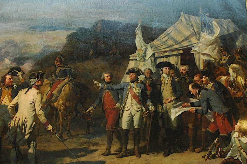 Washington and Rochambeau kickin' it outside the tent at Yorktown.