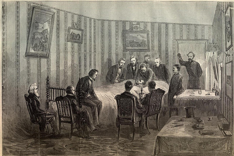 Abraham Lincoln died in a bed where Booth had once slept.