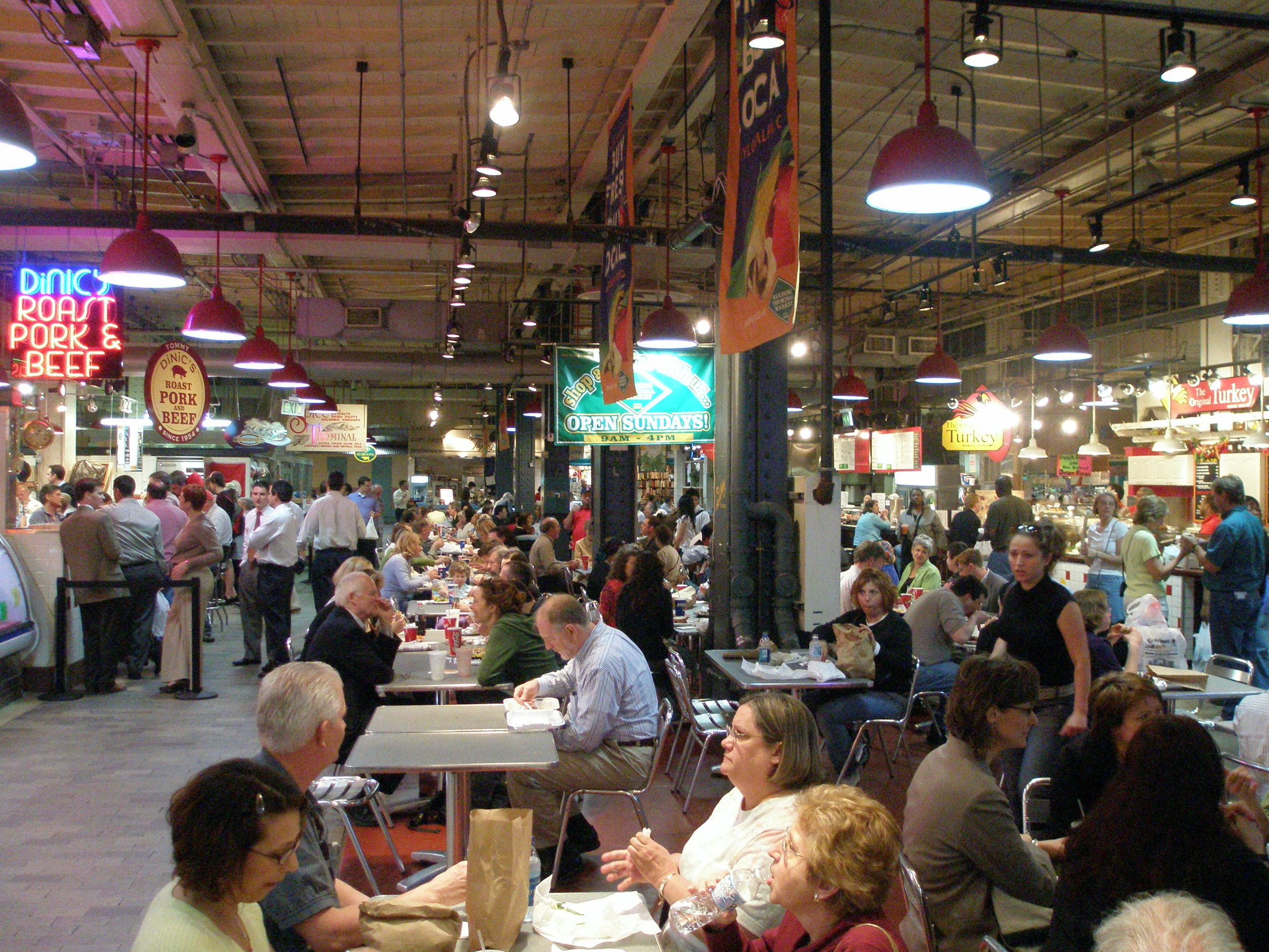 Terminal Market is a great spot for lunch. Wanna go?