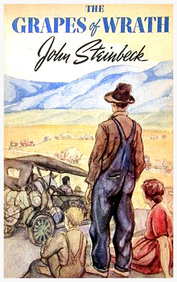 The original dust jacket cover to Steinbeck's masterpiece.