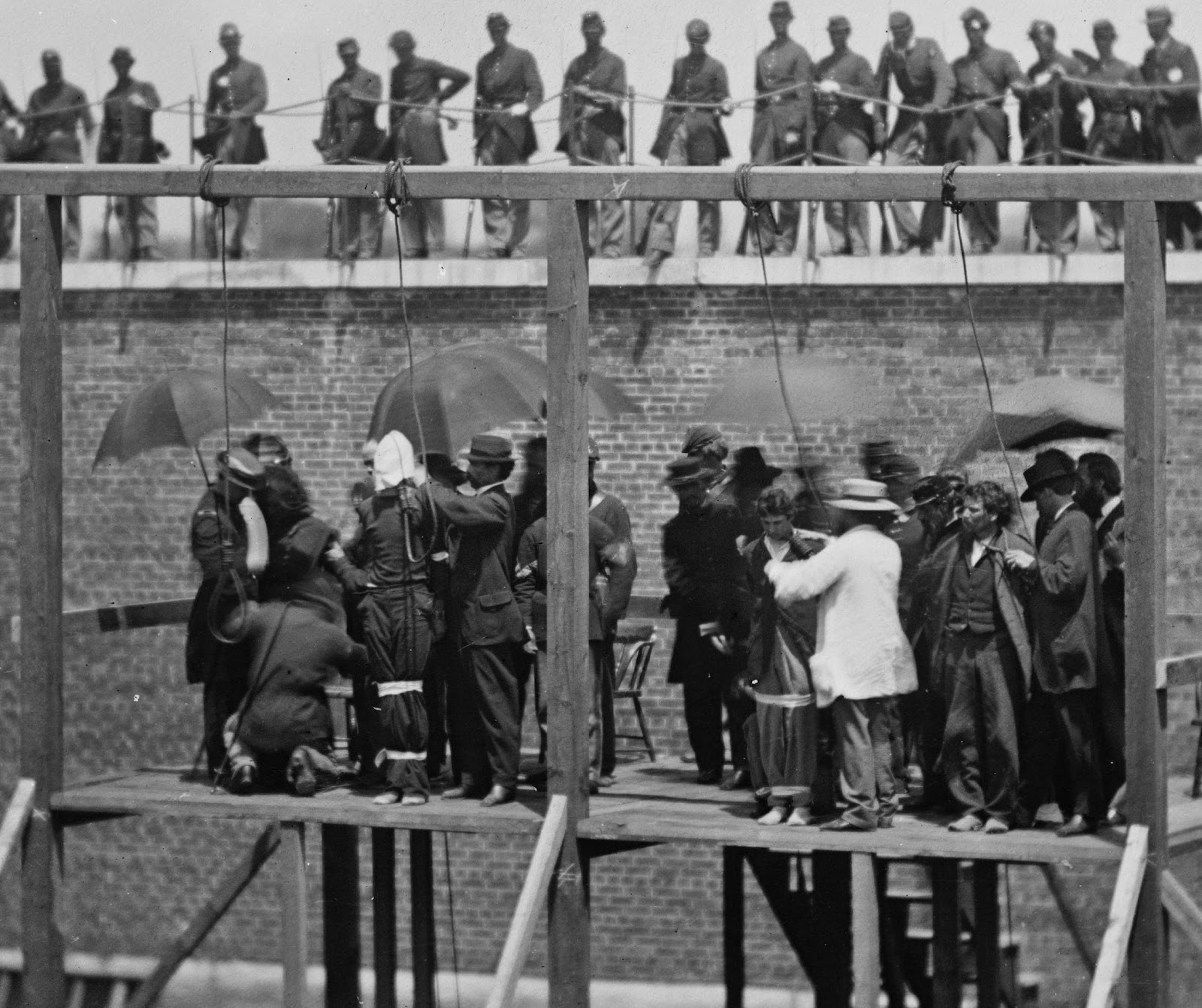 The Lincoln conspirators were hung at Fort McNair in my neighborhood of SW, DC.
