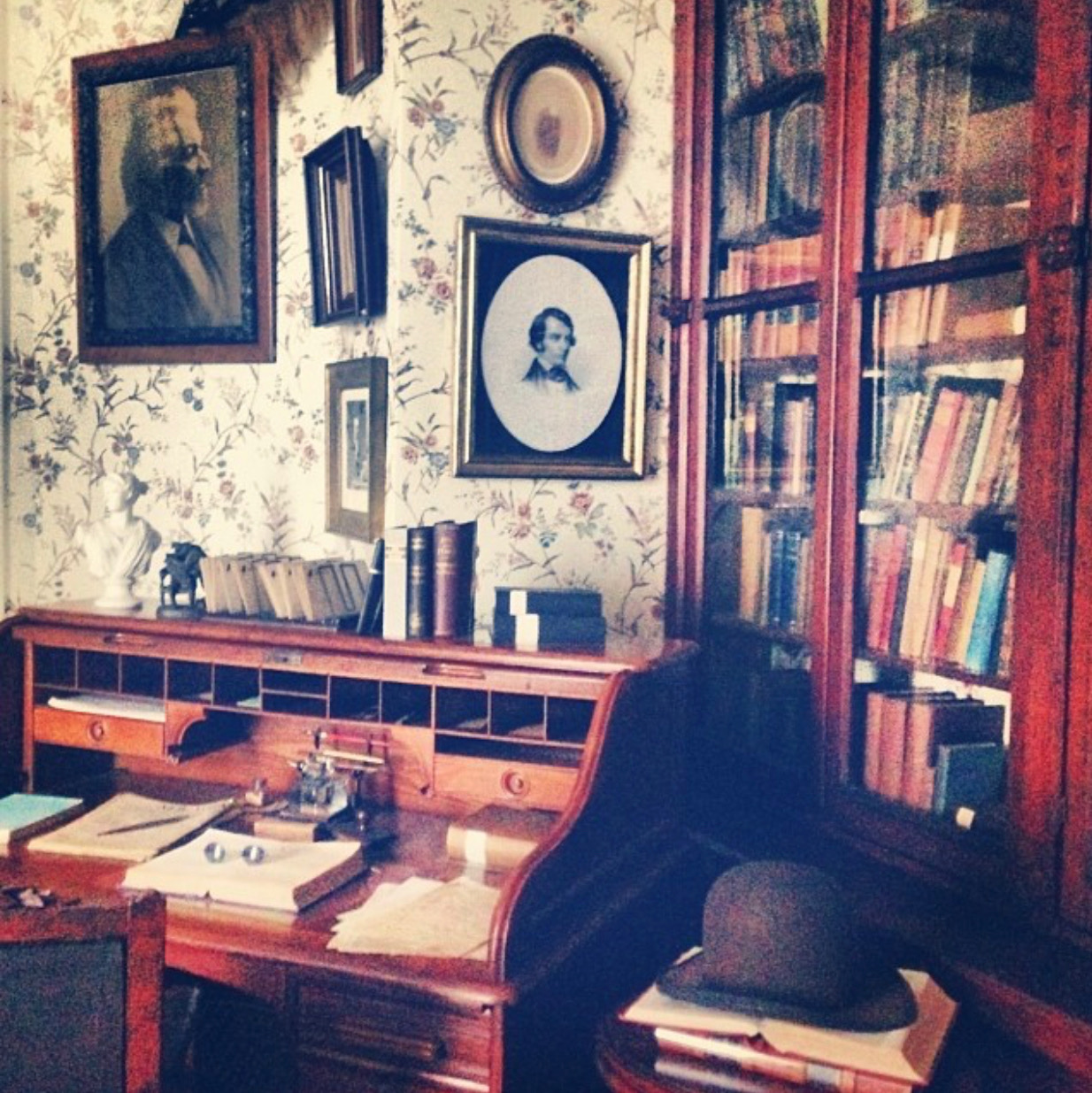 - You can visit the HOME he created!The library is obviously the coolest room in the house…