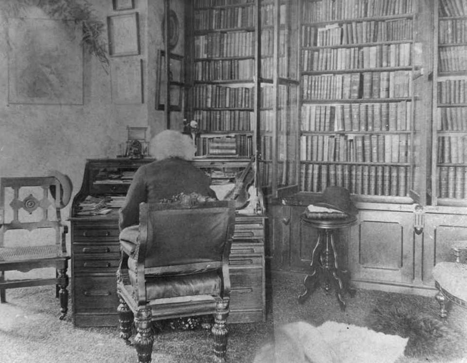 Douglass in the SAME library!!! - c.1893