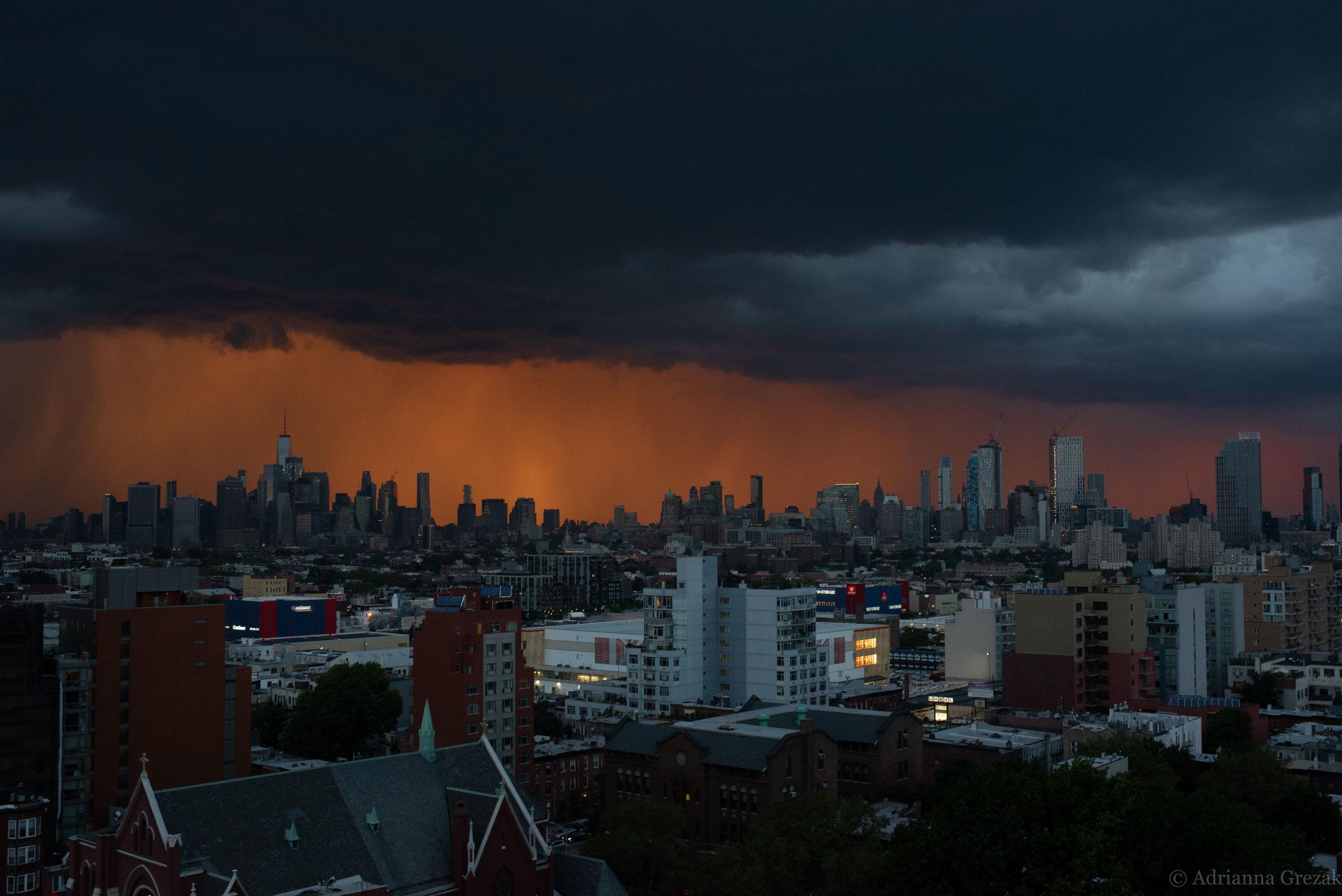 New York City Manhattan Lightning Strike Building Storm 2