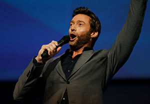 Hugh Jackman emcees shareholders' meeting       (photo: walmart.com)