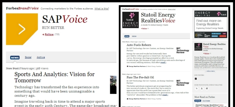 Examples of Forbes BrandVoice