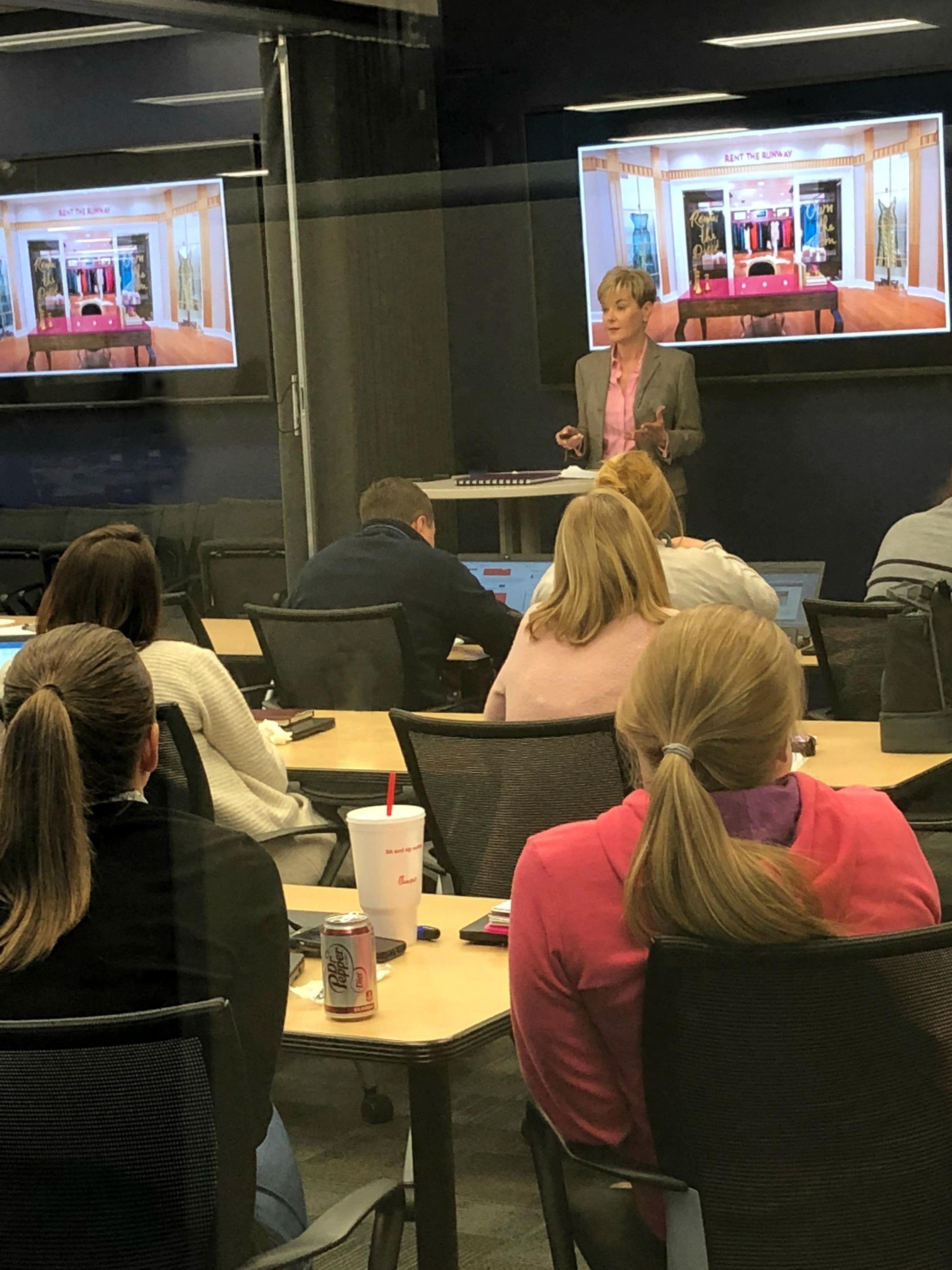 Carol Spieckerman presenting her latest Retail Trajectories to Walmart's marketing and merchandising teams