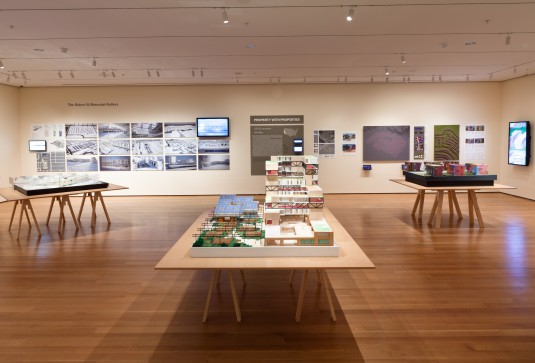 Installation view of  Foreclosed: Rehousing the American Dream  at The Museum of Modern Art, 2012. Photo © Jason Mandella.