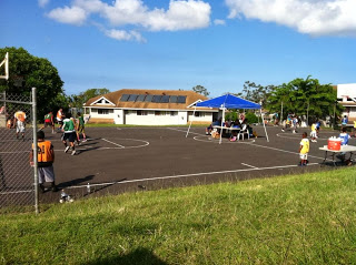 Youth 3 on 3 tournament. Eric and Justice enjoyed the morning in the community.