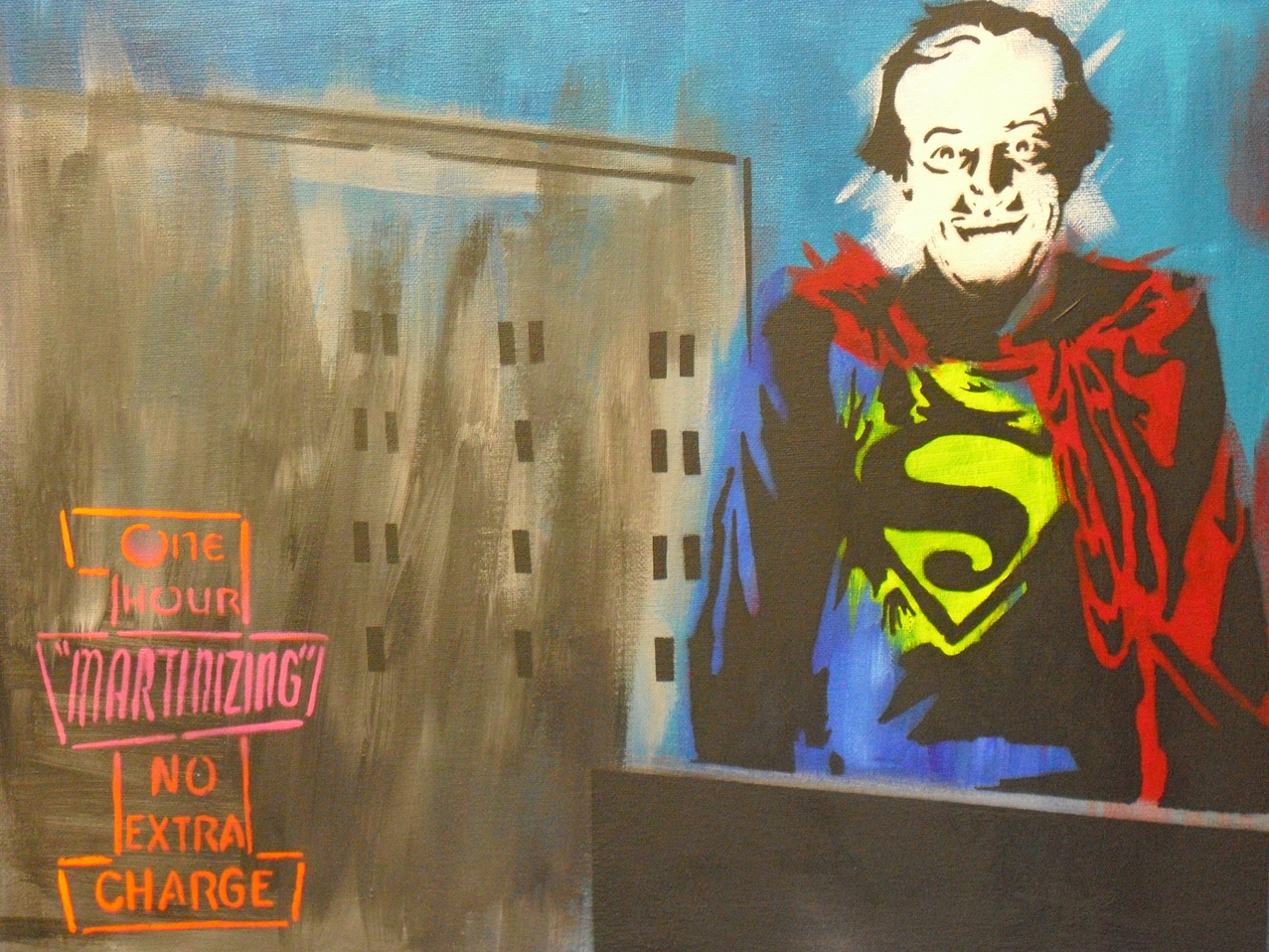 """""""TQ Superman"""" - by Jesse Weiman, based on the Virginian PIlot photograph"""