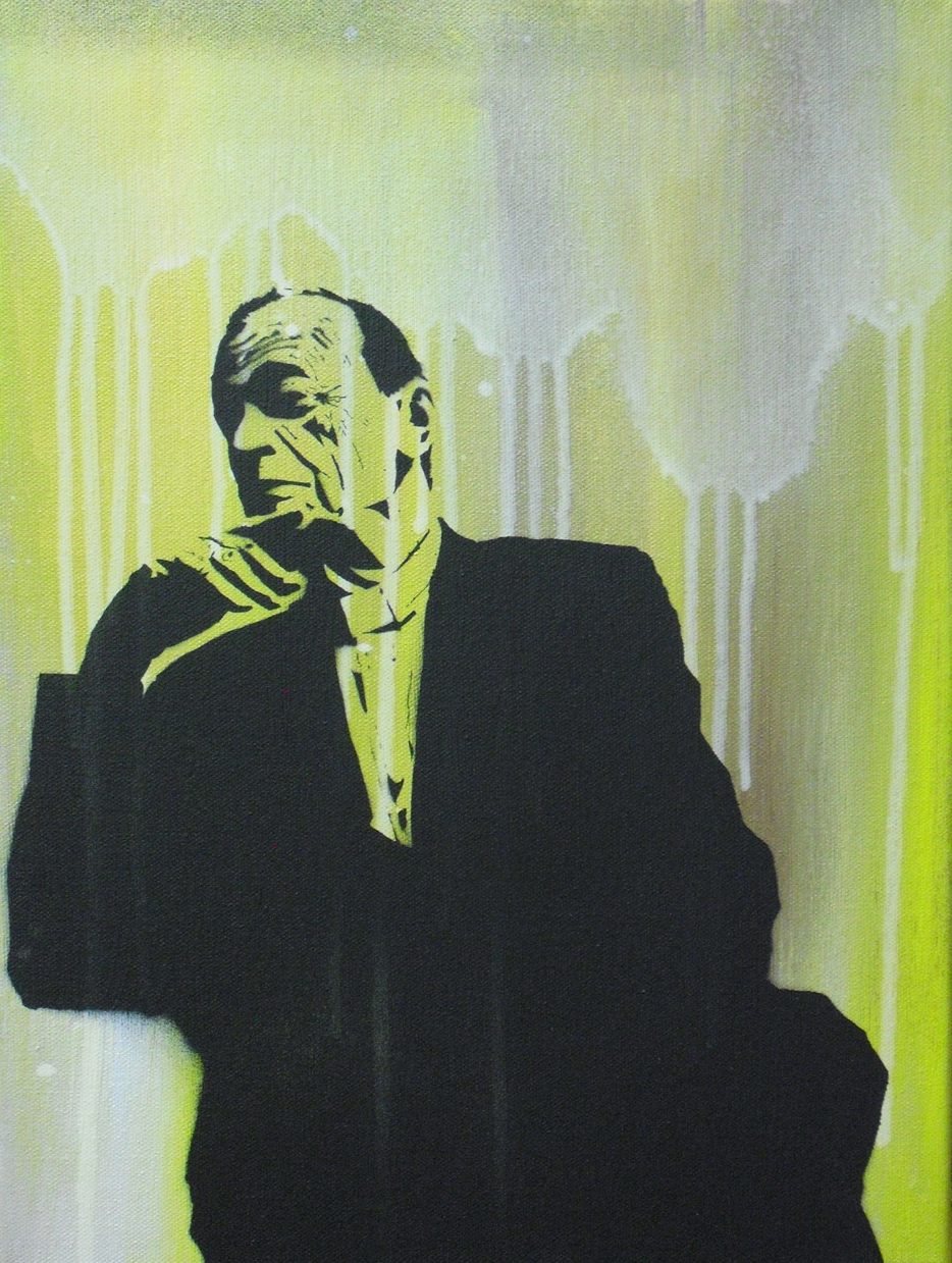 Painting by Jesse Weiman, based on an archival photograph