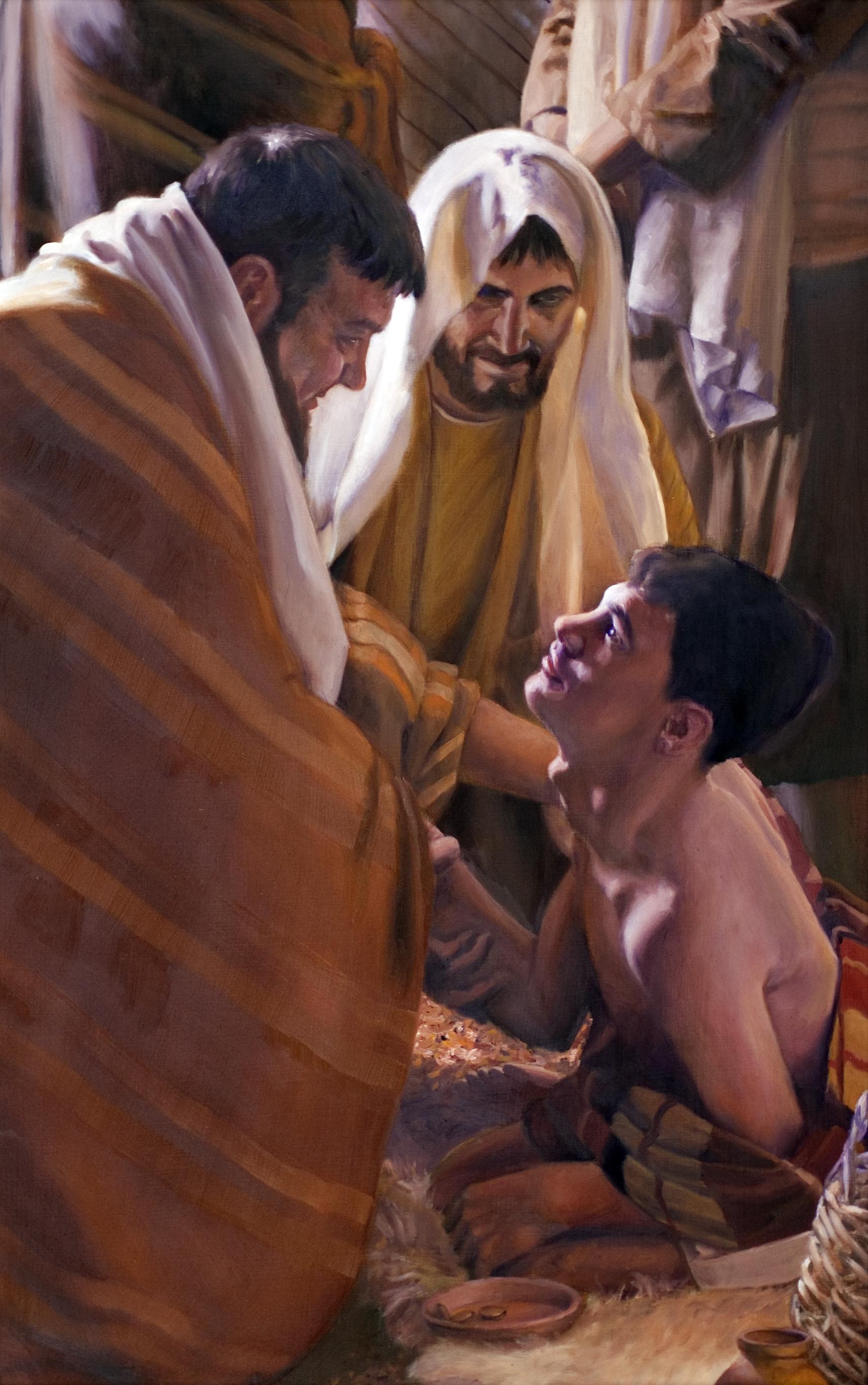 """Apostles Healing"" - by Lester Yocum"