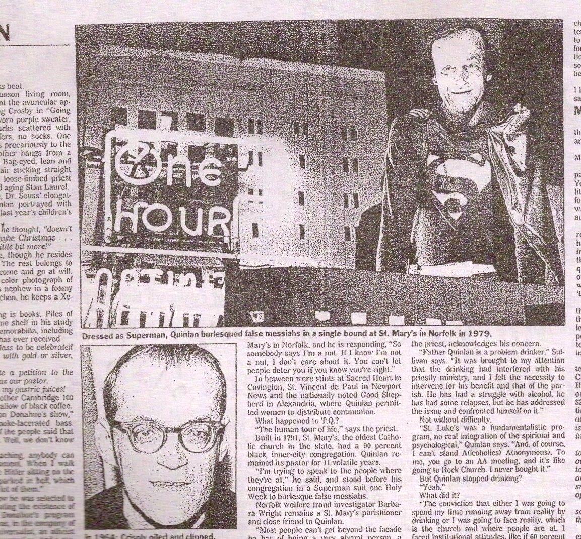 Virginian-Pilot article on TQ's Superman Liturgy