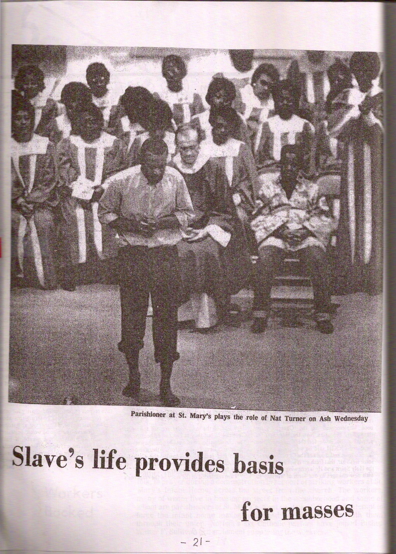 Nat Turner liturgy celebration in Courtland, Virginia