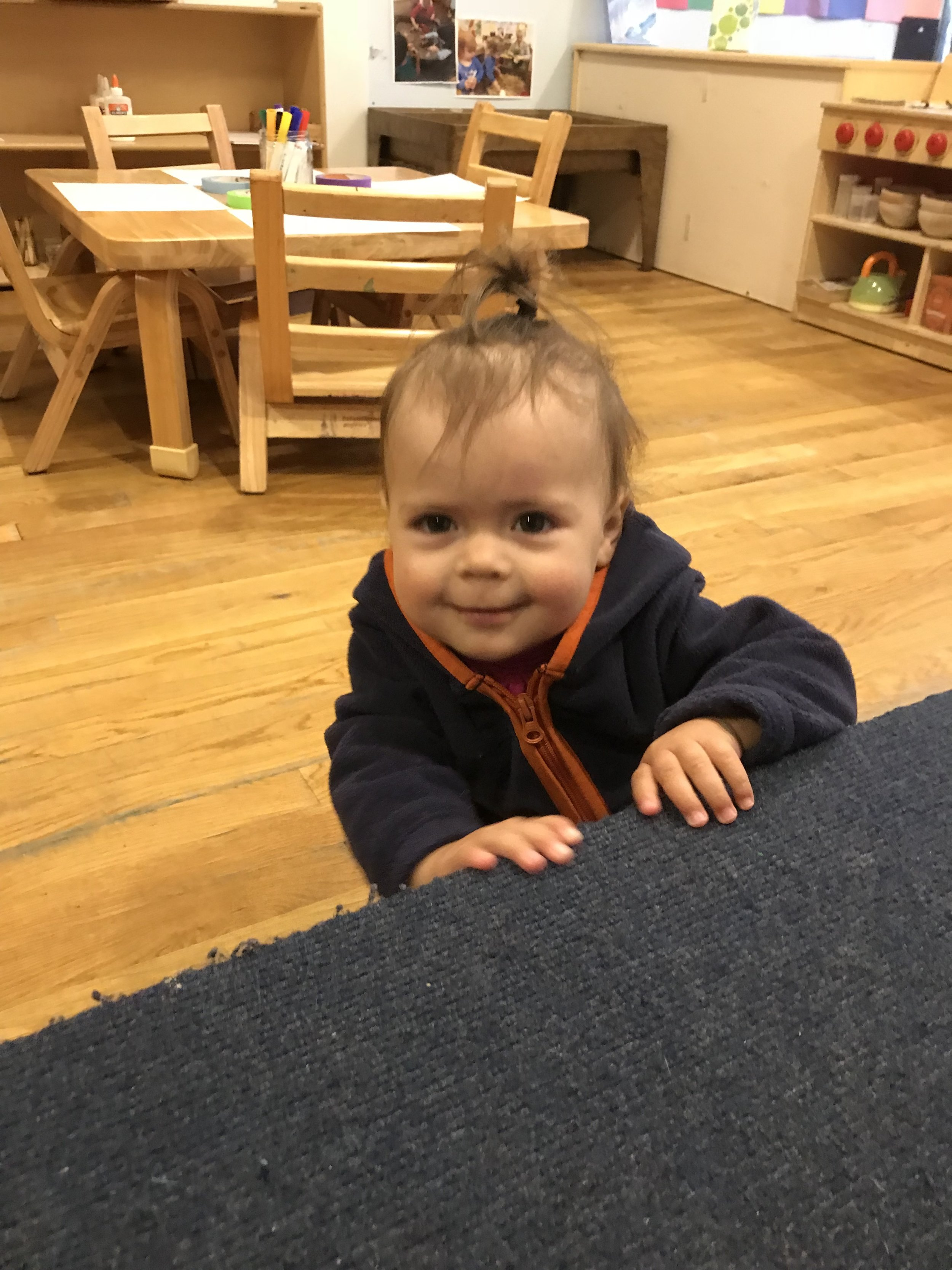 - Please welcome Teodora and her parents Cyntia and Juan to our toddler classroom. Today was Teo's first day!