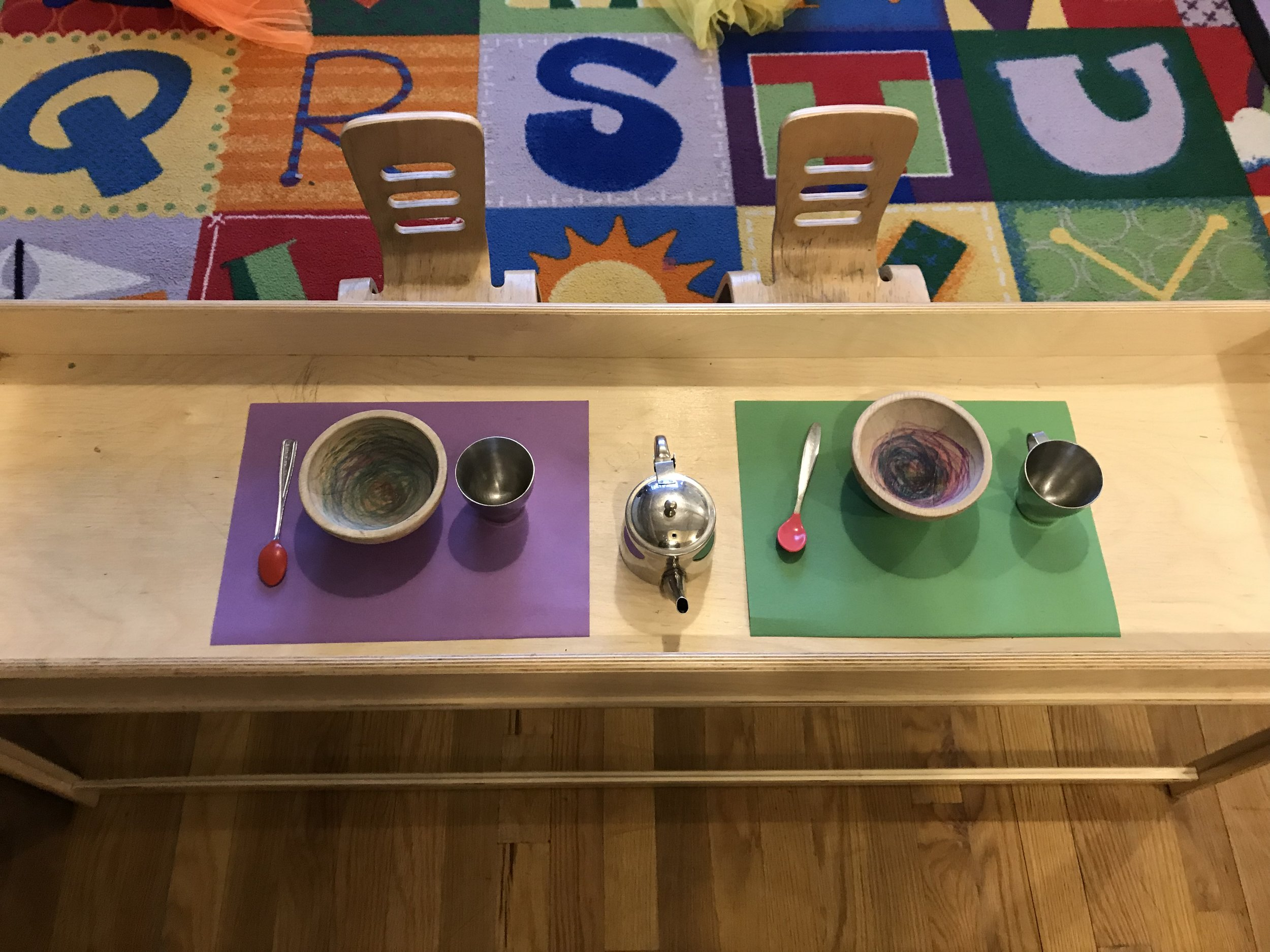 - Invitation to use dramatic play materials