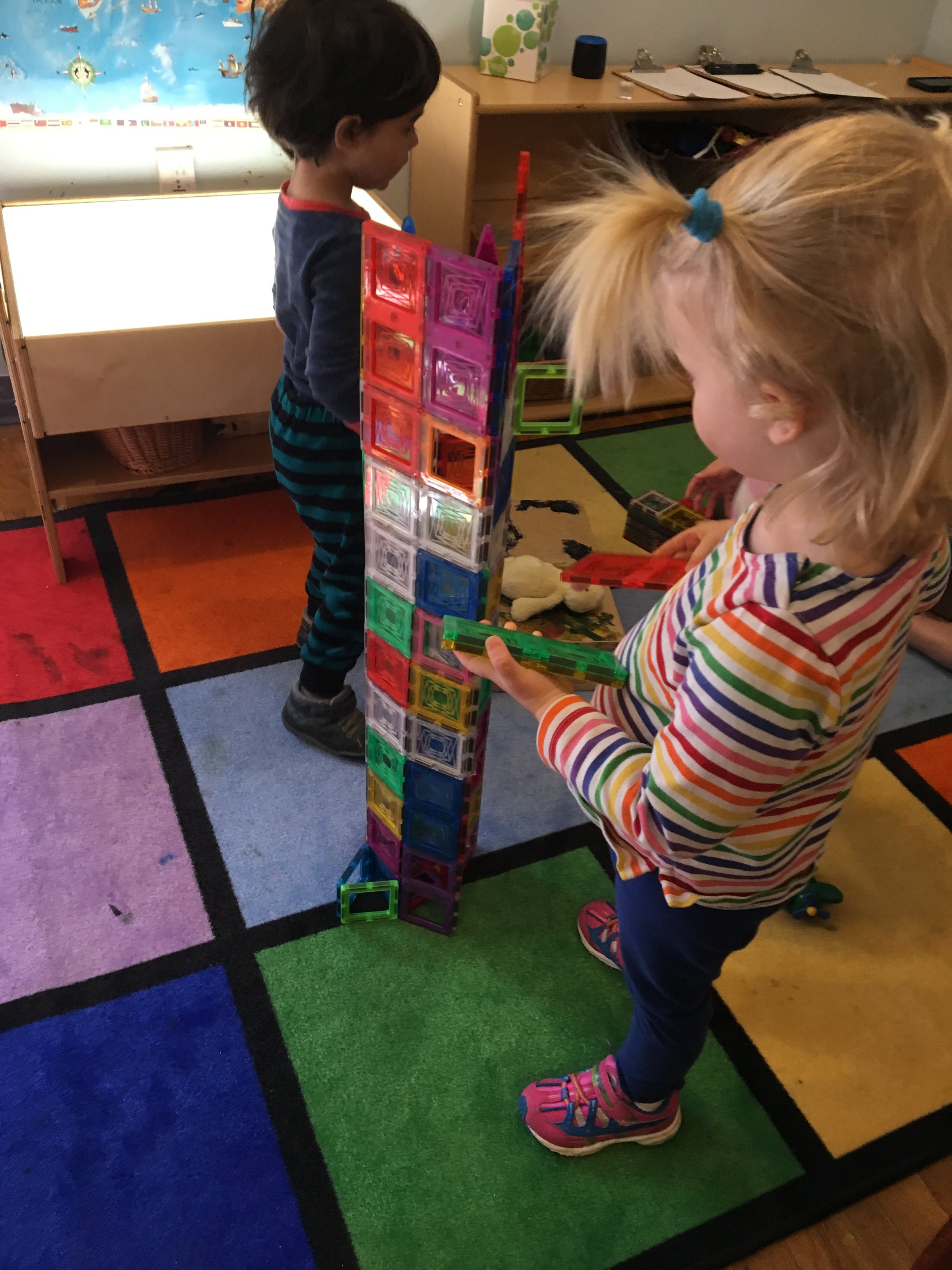 Building Up:  how tall can we build the magnet block tower? -