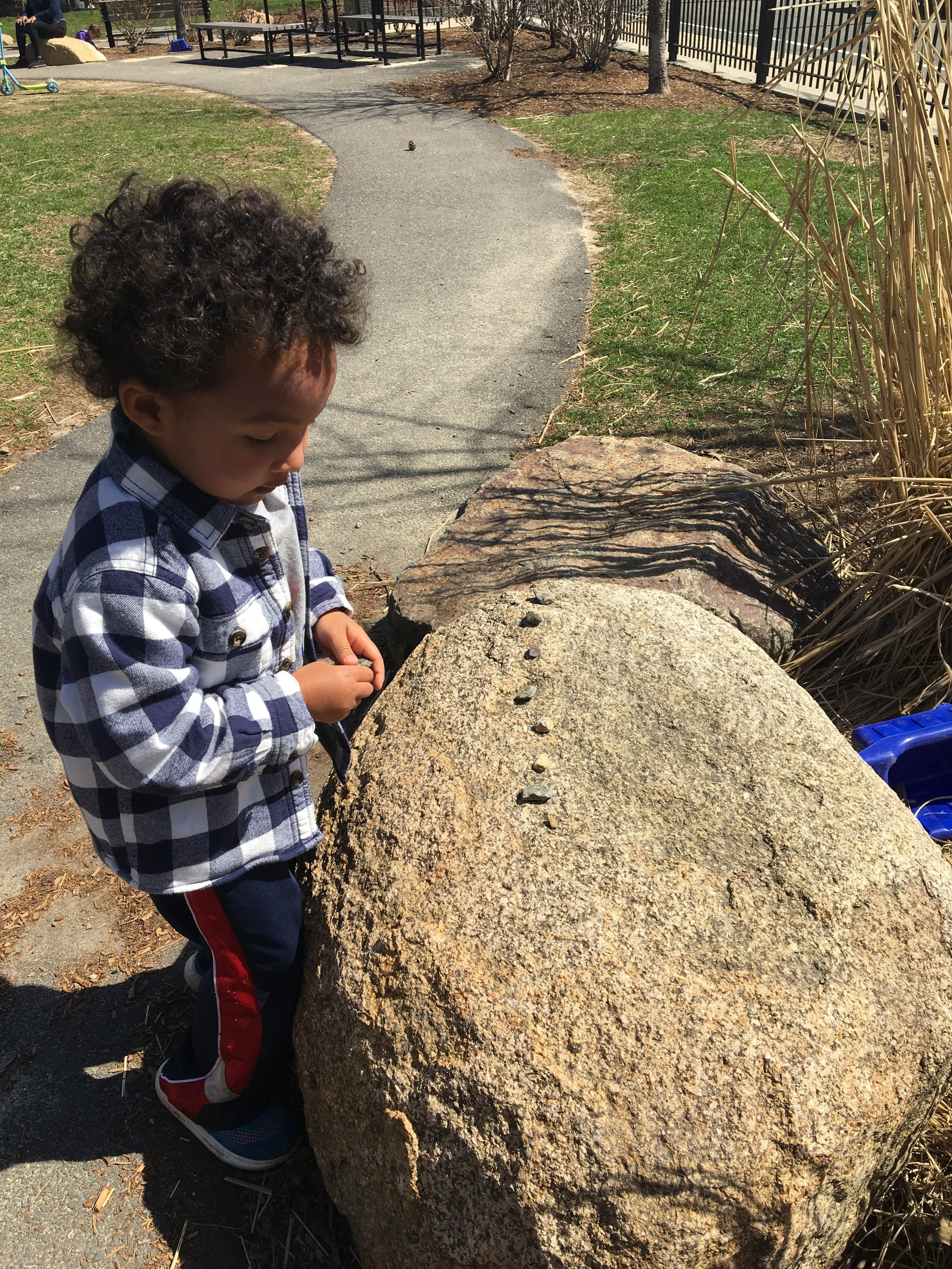 - Using natural materials in our play