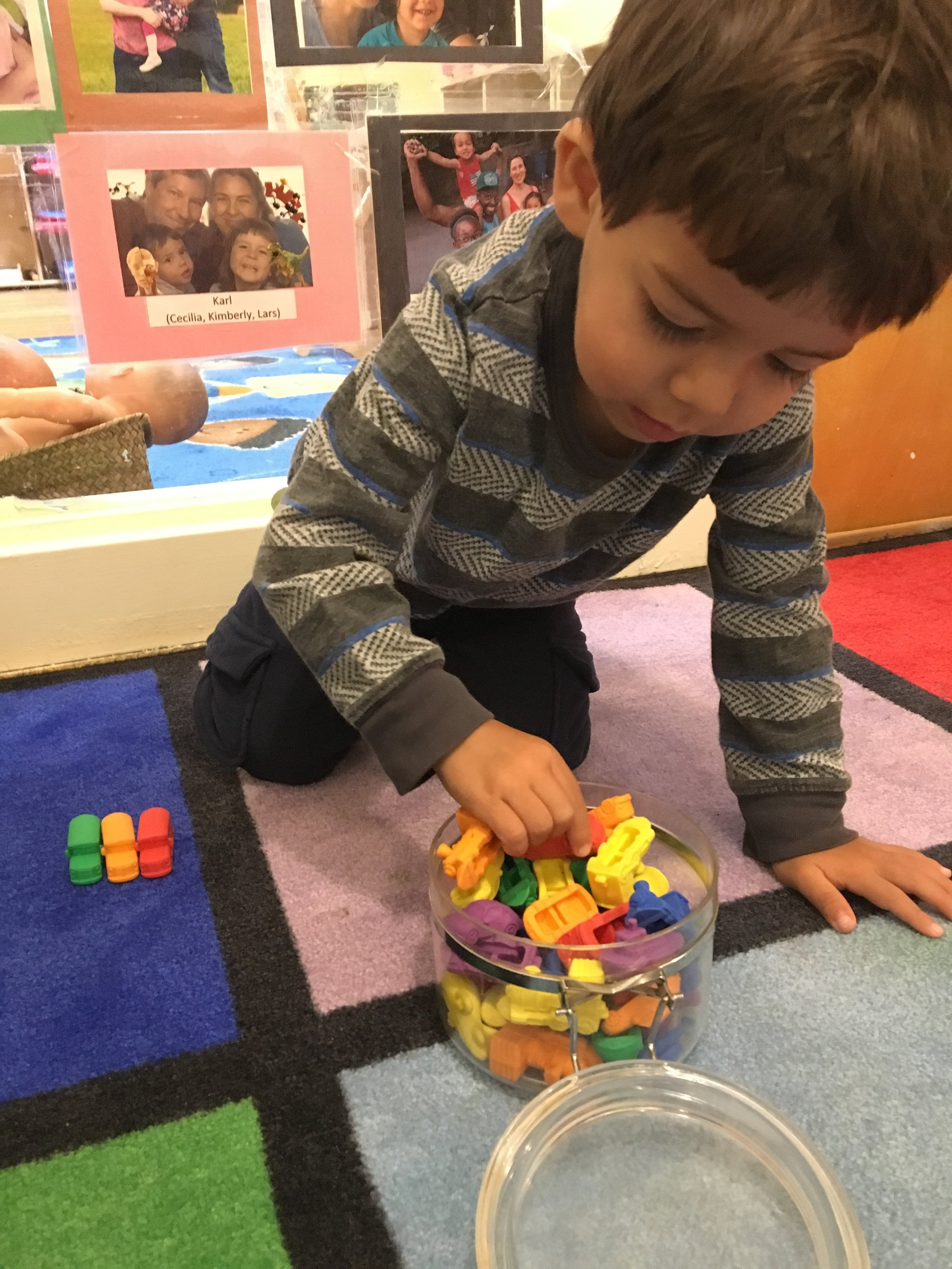 - Sorting Manipulatives by one or more attributes.