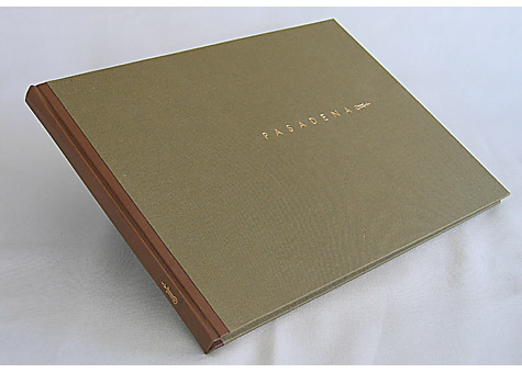 Binder: Alice Vaughan: Pasadena. Archetype Press, Art Center College of Design, Pasadena. 2005. The letterpress work was done by the students of Archetype Press, Art Center College of Design under the direction of Gloria Kondrup. The binding of book and box executed by Alice Vaughan. Edition of 101.