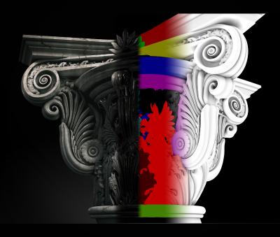 Pillar Texturing for 2d presentations $2+