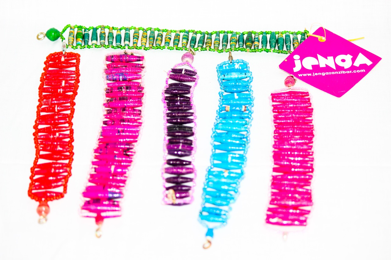 Recycled paper bracelets made by Chako.jpg