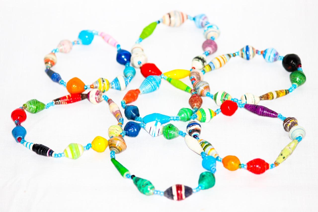 Recycled paper bracelets made Chako.jpg