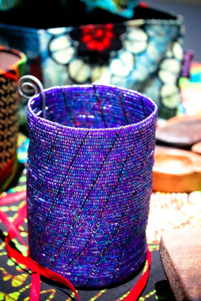 Tea-light holder small beads made by Africraft.jpg