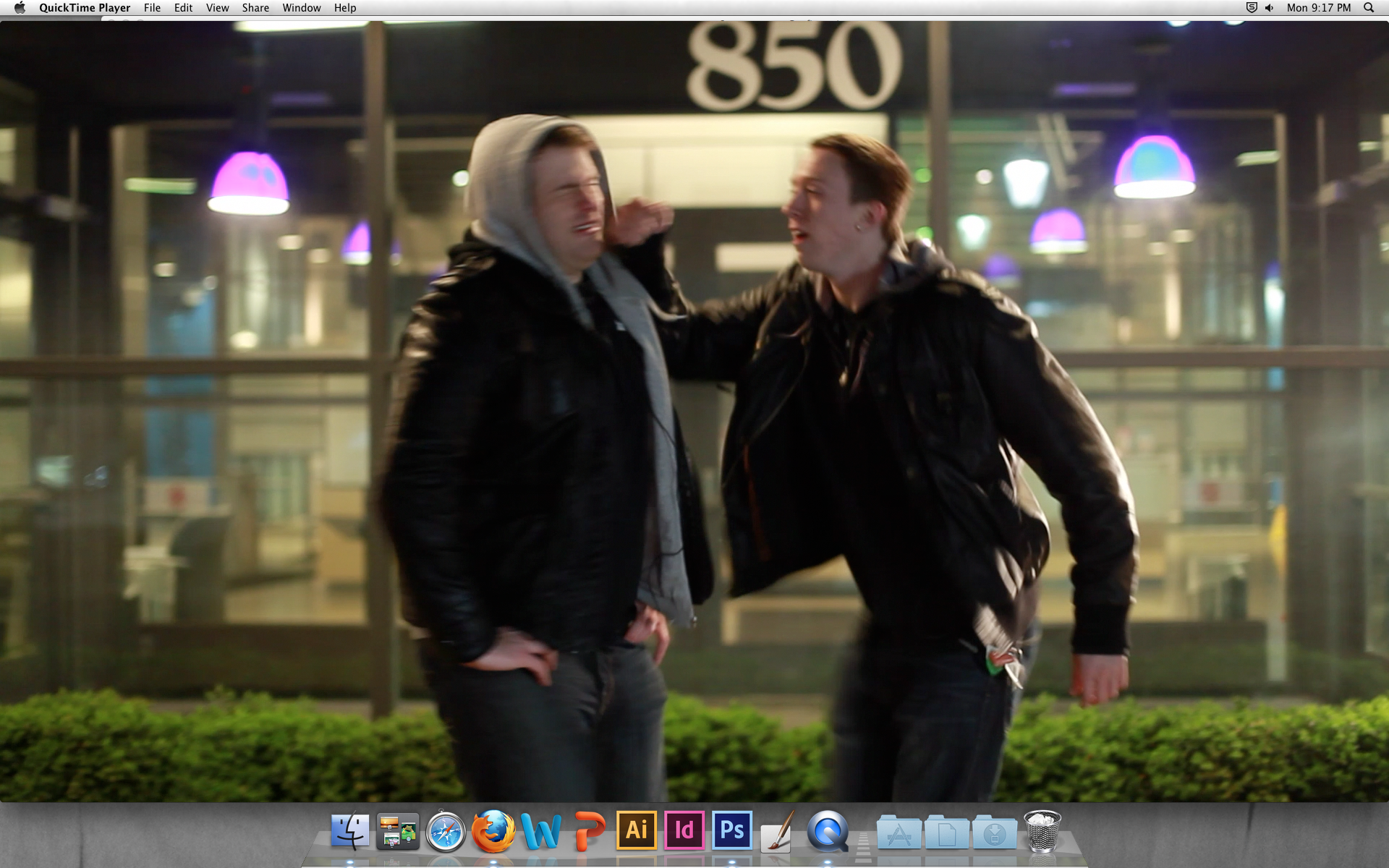 Here's a still from the footage from the night of me getting punched in the face. Enjoy.