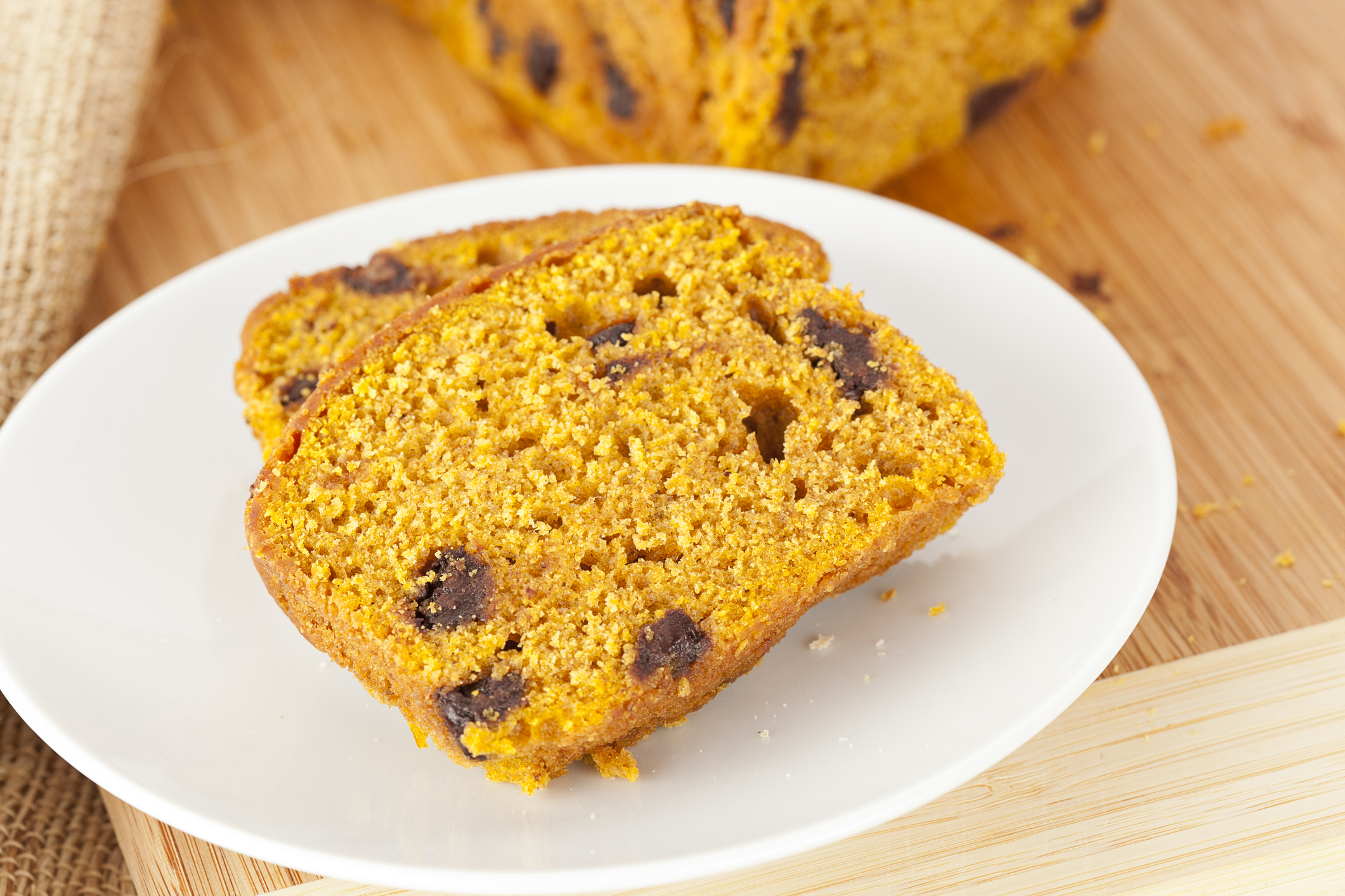 Pumpkin Chocolate Chip bread the healthy way. When I smell this baking in the oven, I know it's fall. Made with healthy fats, and the addition of coconut sugar, it's so much more delicious and nutritious than any bread at a coffee shop