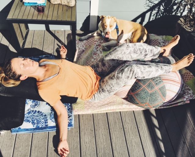 legs over chair pose restorative yoga