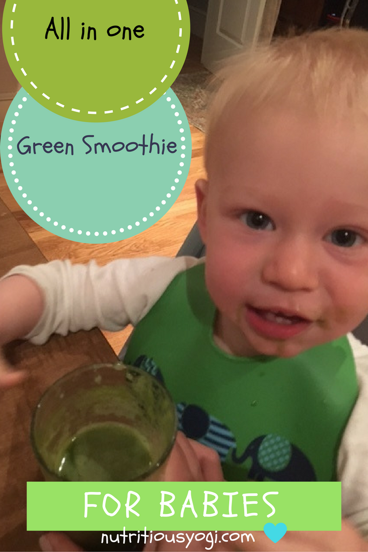 An all in one green smoothie that's perfect for babies, toddlers, and adults of all ages. A great way to sneak in your green vegetables in a way that tastes great.