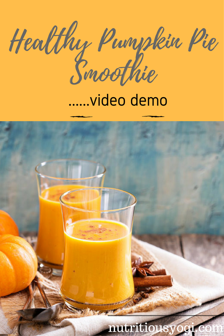 Healthy Pumpkin Pie Smoothie Video Demo