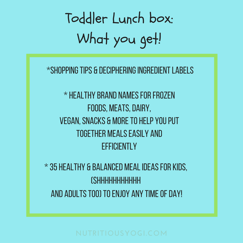Toddler lunch box: what you get