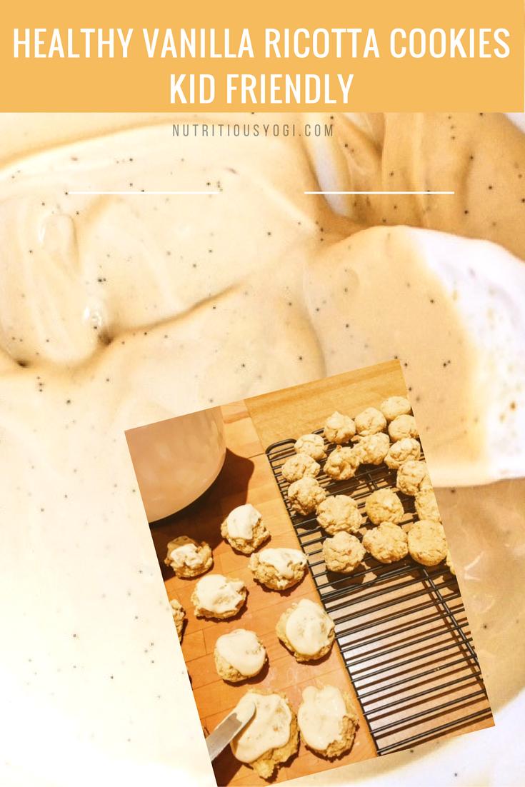Healthy Vanilla Ricotta Cookies with Yogurt Icing: Kid Friendly