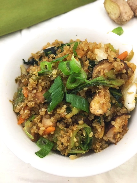 These gluten-free probiotic quinoa bowls are amazing for gut health and stand alone as a one- bowl vegetarian meal.