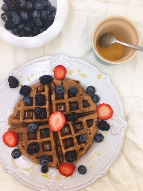 Gluten-Free Hazelnut Protein Waffles