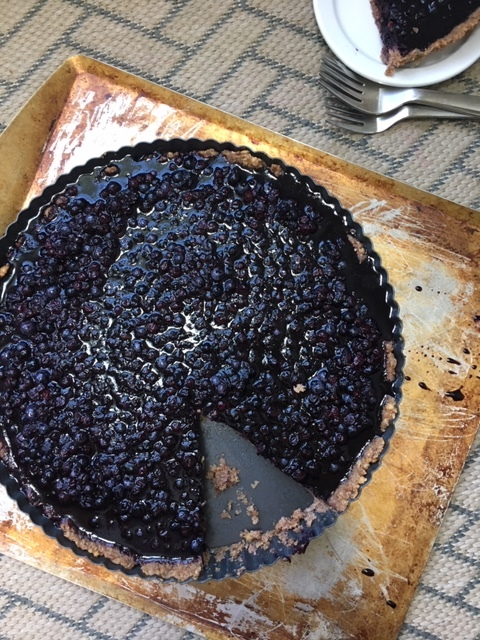 Gut-building Wild Blueberry Tart