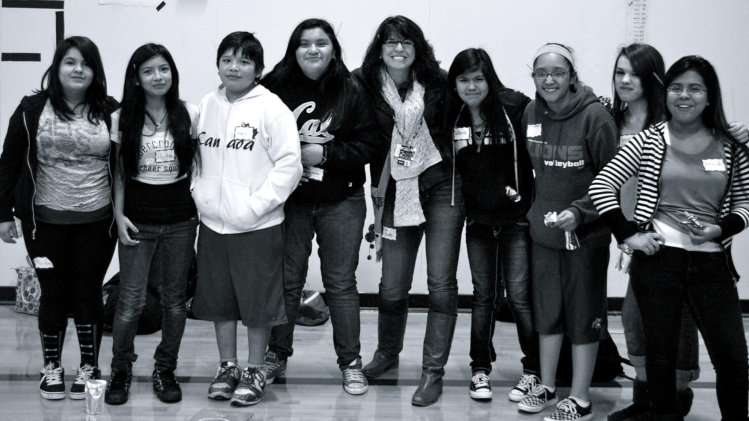 Students at La Chispa in Sumner, WA .