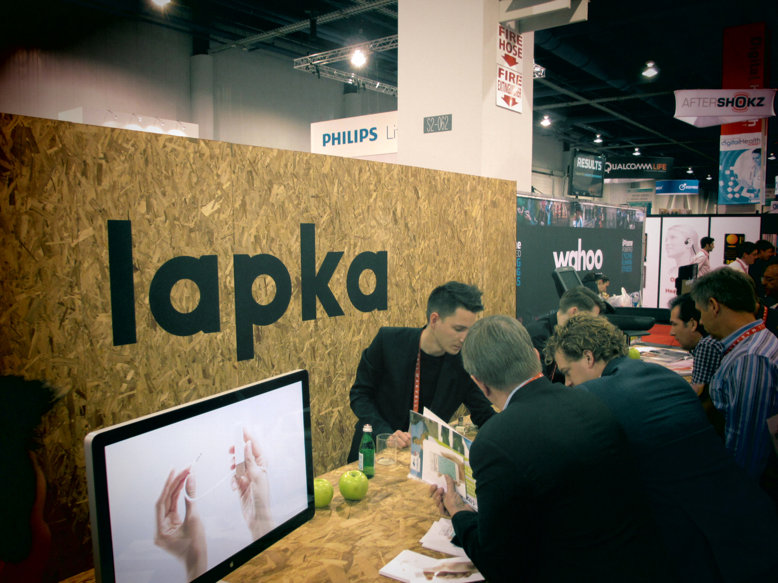 The Lapka booth in the South Hall. #2013CES