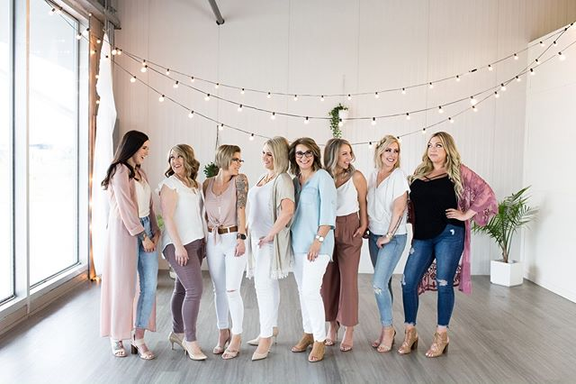 Loved having these beautiful women in studio last weekend! It was a gloomy day, but they sure brightened it up!@blonde_and_company.st.albert