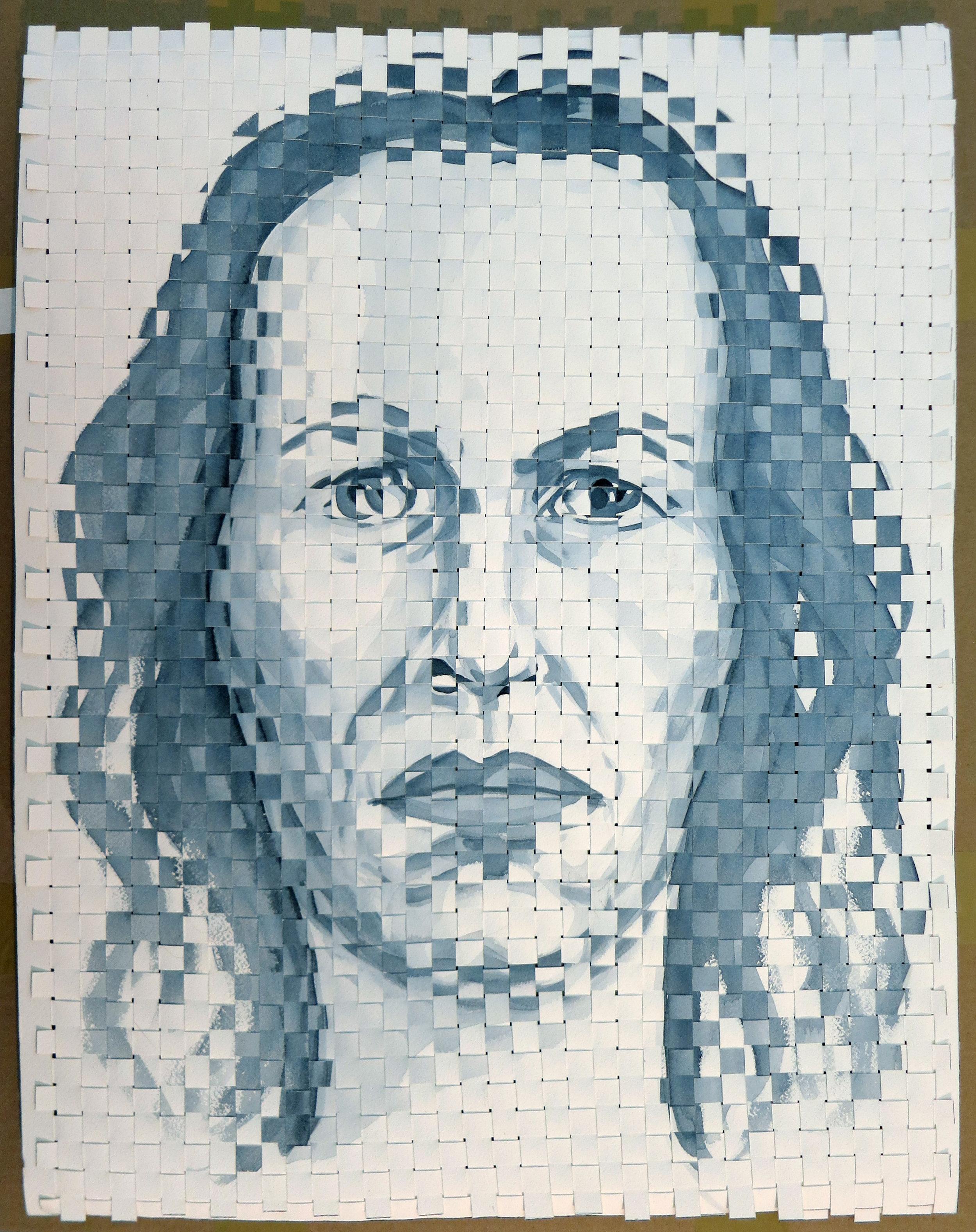 Woven Self-Portrait: monochrome