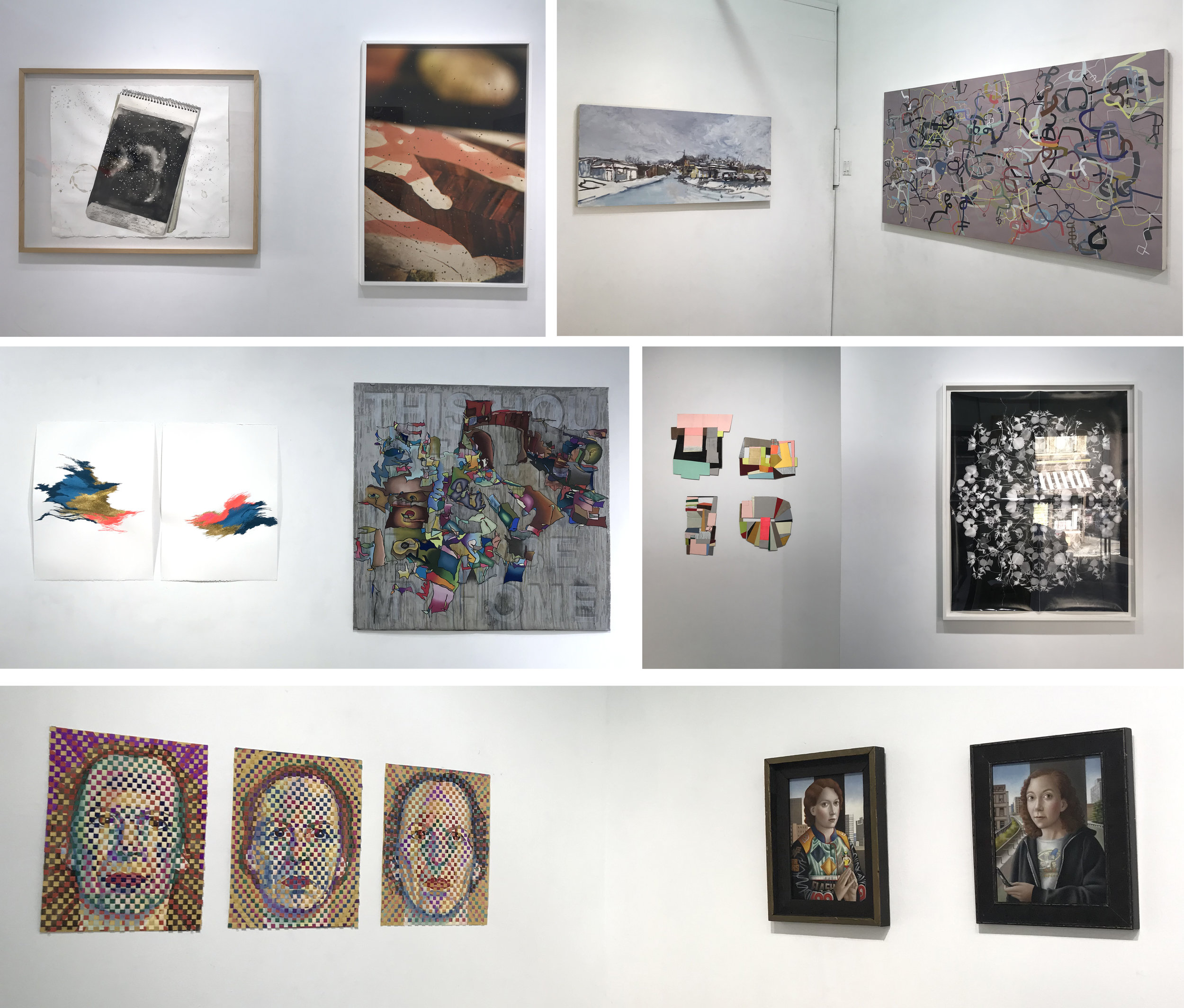 Installation shots of the artist pairs