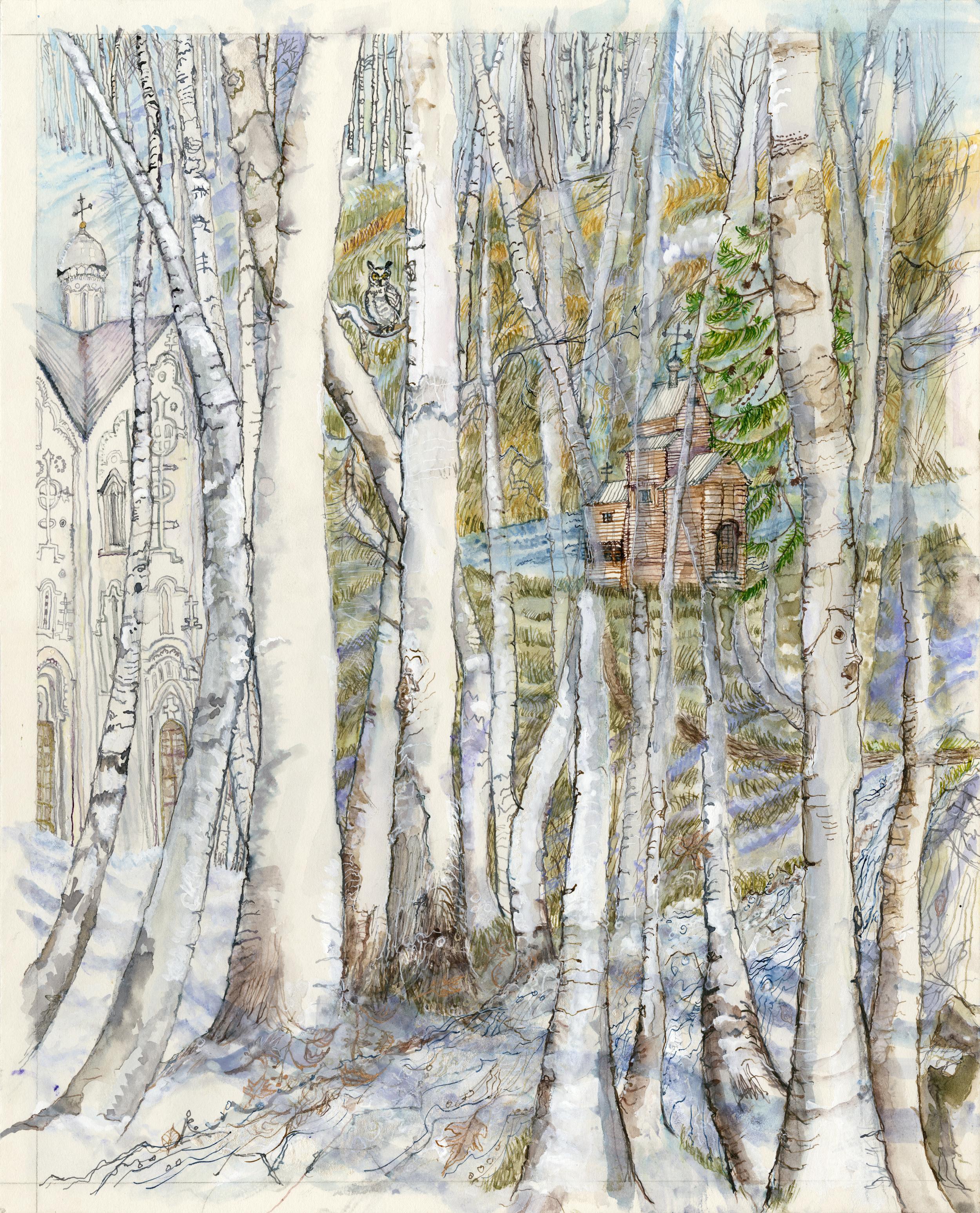Rachmaninov Novgorod birches and churches Smaller.jpg