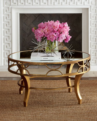 Bronze and Glass coffe table from Horchow