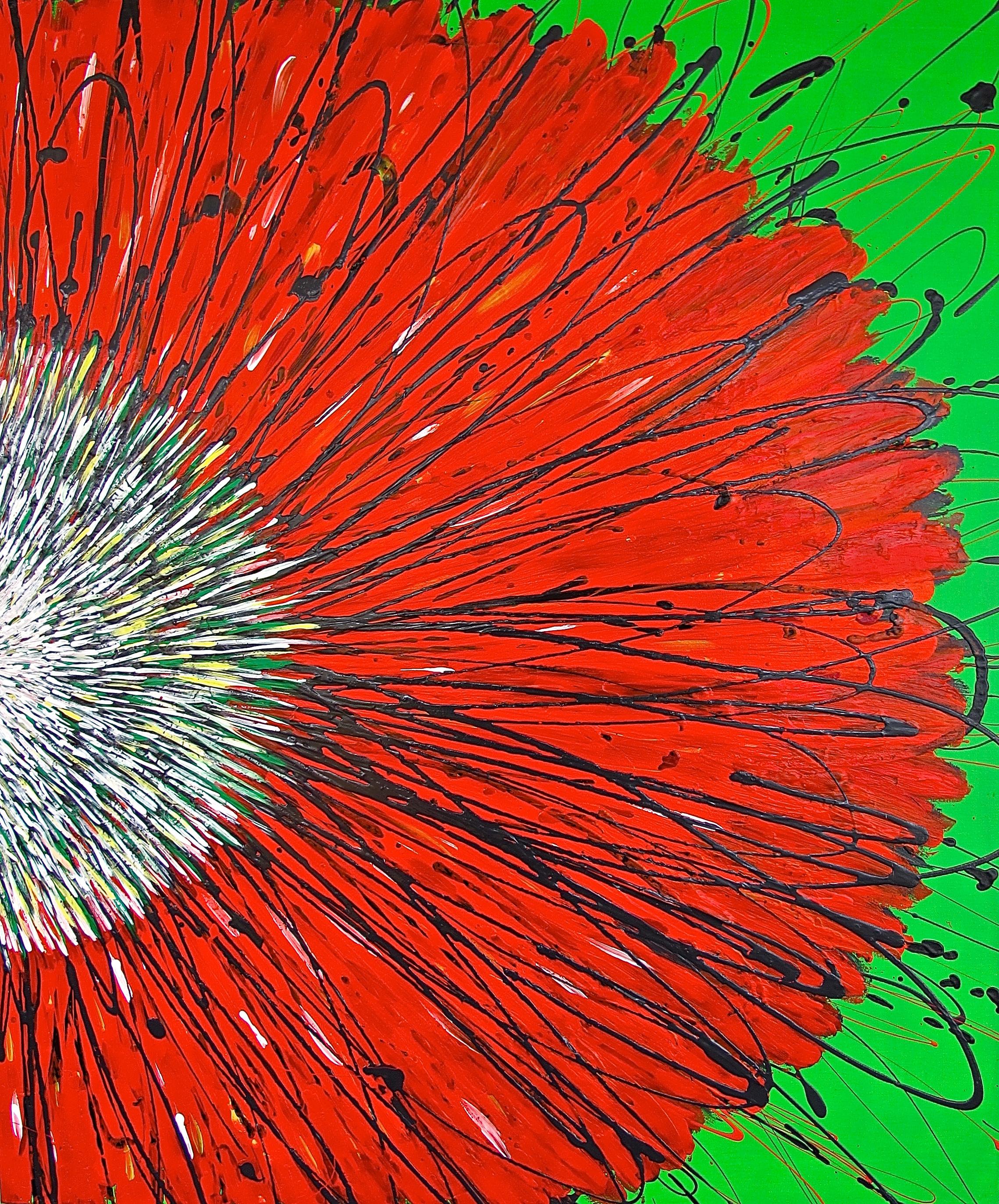 RED POPPY   36 x 30